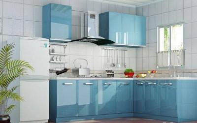 Ốp bếp bằng kính màu theo phong thủy