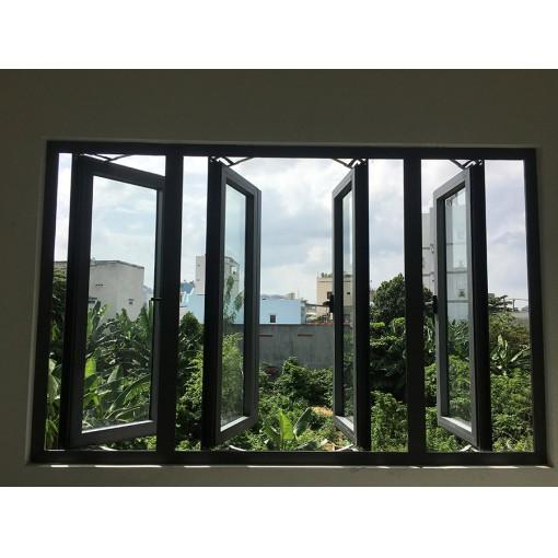 Cửa sổ 4 cánh mở quay nhôm Xingfa cao cấp