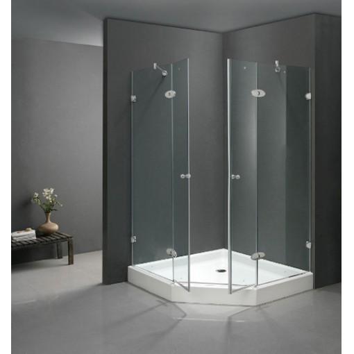 Vách kính tắm đứng mở quay 180 độ: VKTD-02