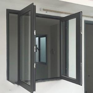 Cửa sổ mở quay hai cánh nhôm Xingfa cao cấp