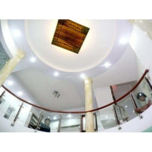 LCCTK03: Lan can ban cầu thang kính