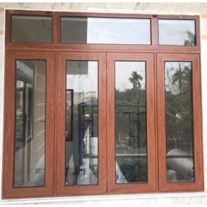 CS4CMQS01: Cửa sổ 4 cánh mở quay màu vân gỗ Xingfa cao cấp