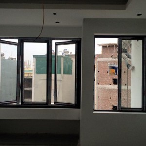CSMQHS01: Cửa sổ hai cánh mở quay kết hợp với mở hất