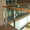 LCCTK05: Lan can cầu thang kính tay vịn inox cao cấp